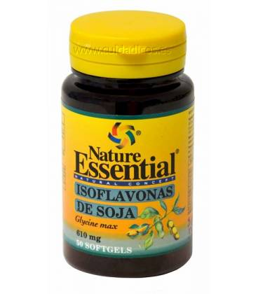 Isoflavonas de soja 50 perlas de 610mg de Nature Essential