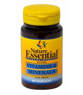 VITAMINAS Y MINERALES 600mg 60 Tabletas de Nature Essential