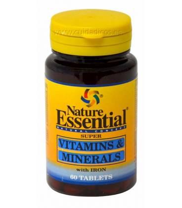 VITAMINAS Y MINERALES 600mg 60 Tabletas de Nature Essential