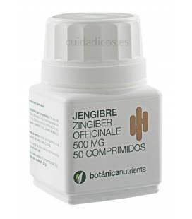 JENGIBRE 50 Comprimidos 500mg de Botánica Nutrients