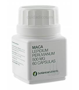 MACA 60 Cápsulas 500mg de Botánica Nutrients