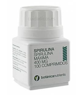 ESPIRULINA (Spirulina) 100 Comprimidos 400mg de Botánica Nutrients