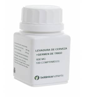 LEVADURA Y GERMEN DE TRIGO 100 Comprimidos 600mg de Botánica Nutrients