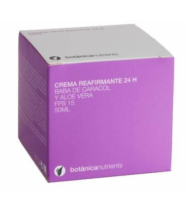 CREMA REAFIRMANTE 24H FPS15, BABA Y ALOE 50ml de Botánica Nutrients