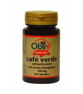 CAFE VERDE 200mg 60 cápsulas (45% ac. clorogénico) de obire