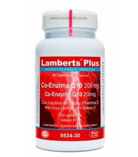 Co-Enzima Q10 30 cápsulas 200mg de Lamberts Plus