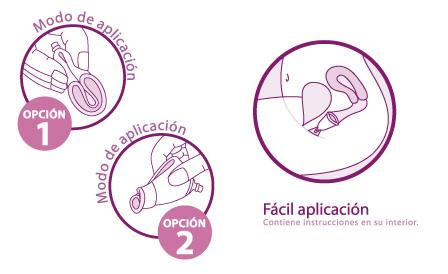 Colocación de la copa menstrual