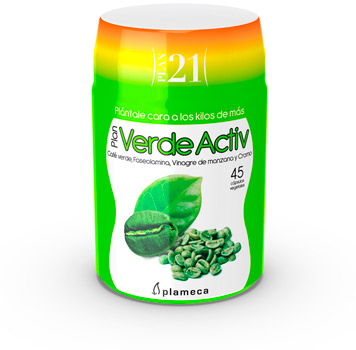 Plan 21 - Plan Verde Activ de Plameca para perder peso