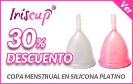 30% de descuento en copas menstruales Iriscup