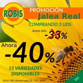 40% de descuento comprando 3 o más Jaleas Robis