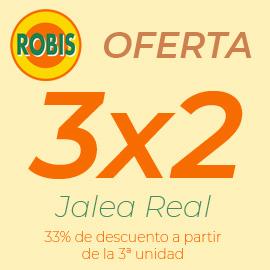 3x2 en Jalea Real Robis